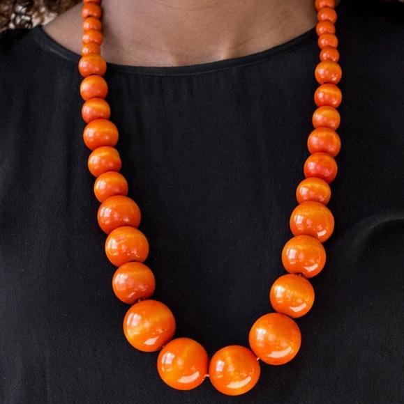 Paparazzi Effortlessly Everglades Orange Necklace